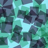 Abstract Squares Pattern. Blue Geometric Background. Glamorous Random Squares. Geometric Chaotic Dec poster