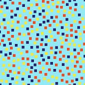Abstract Squares Pattern. Blue Geometric Background. Ideal Random Squares. Geometric Chaotic Decor. poster
