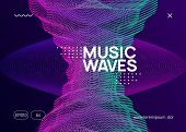 Night Music. Dynamic Fluid Shape And Line. Curvy Discotheque Banner Concept. Night Music Flyer. Elec poster