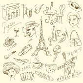 France - Paris - doodles