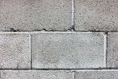 picture of cinder block  - A closeup photo of a old cinder block wall - JPG