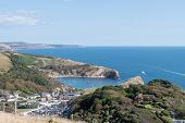 Landscape Photo Of Lulworth Cove In Dorset. poster