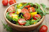 foto of rocket salad  - fresh vegetable salad - JPG