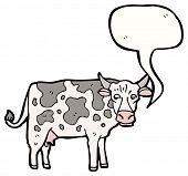 picture of moo-cow  - cartoon mooing cow - JPG