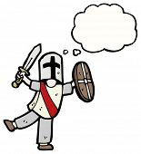 picture of arthurian  - cartoon medieval knight - JPG