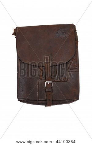 Military Leather Map-case Of The German Officer