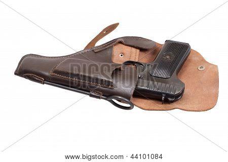 Soviet Handgun Tt In A Holster