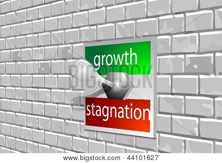 Wachstum Stagnation