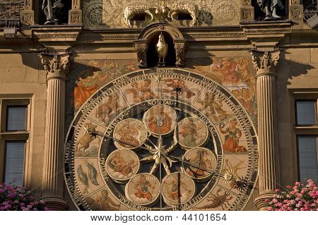 Astronomical Clock At Rathaus In Heilbronn, Germany