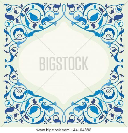 Islâmica arte floral - azul (EPS10)