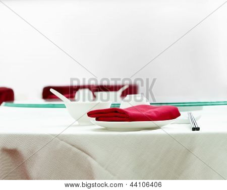 Chinese Restaurant Table Setting