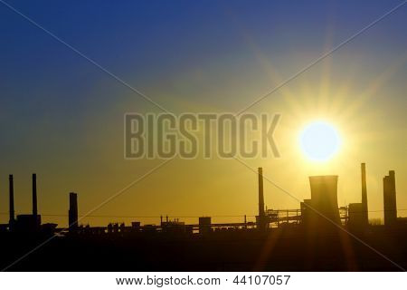 Industrial sunset shoot  in spring time