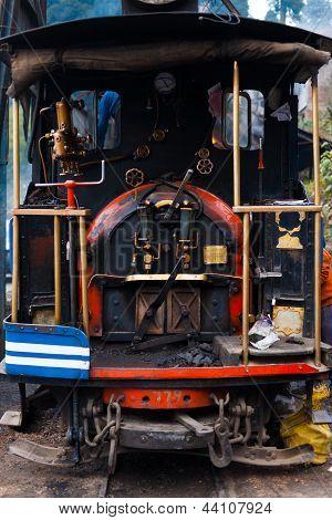Rear Steam Engine Parked Toy Train Darjeeling