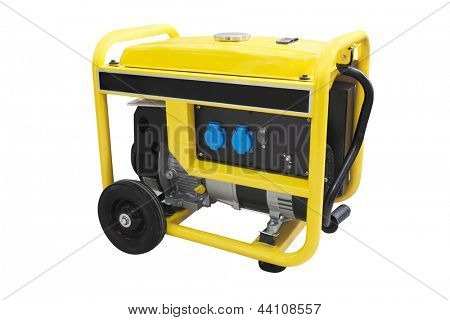 gasoline generator under the white background