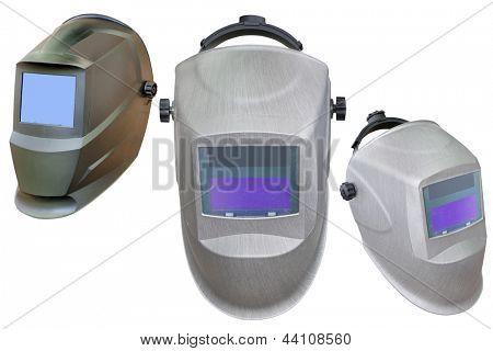 welder helmet under the white background