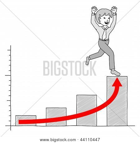 Chart With Businessman