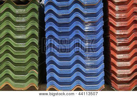 Stack Of Asbestos Roof