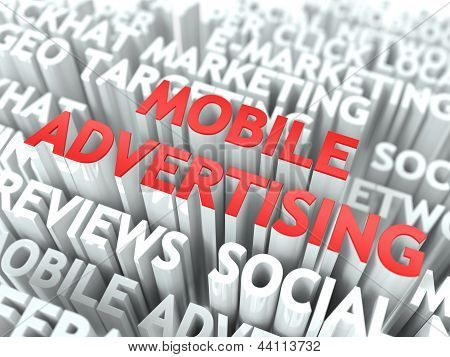 Mobile Advertising Concept.