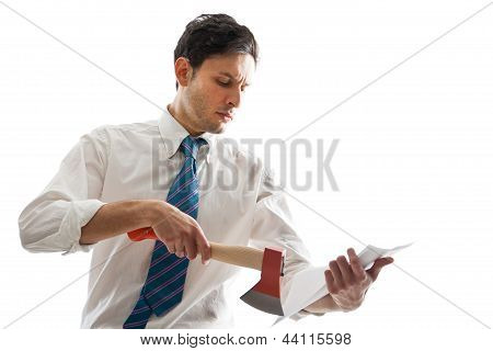 Businessman With Hatchet