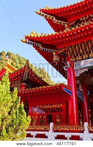 Detail of Wen wu Temple in Taiwan