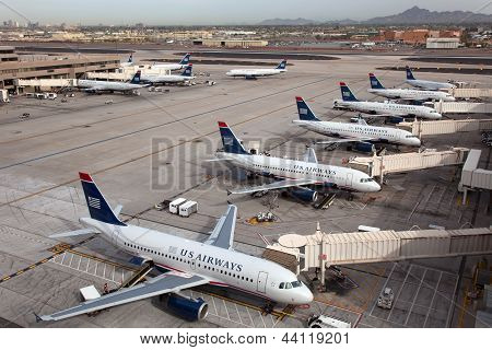 US Airways Flugzeuge bei Phoenix Sky Harbor Airport