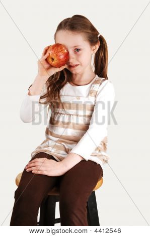 Little Girl With Apple.