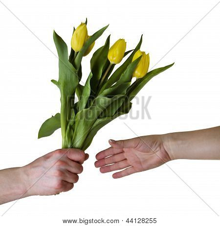 Giving Flowers