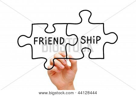 Friendship Puzzle Concept