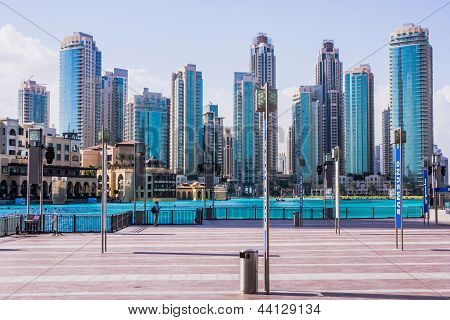 Downtown Dubai beyond Burj Khalifa lake