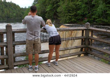 Couple Viewing Tahquamenon Falls