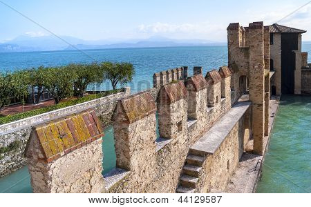 Garda Lake Fortification In Sirmione