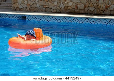 A Baby In A Pool