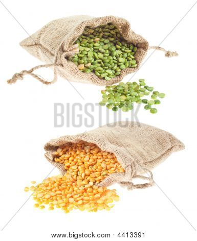 Yellow And Green Split Pea