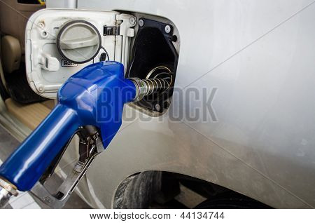 Close Up Of A Refilling Gas Head