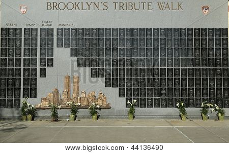 FDNY fallen firefighters memorial  in Brooklyn, NY.