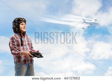 boy dreams of becoming a pilot