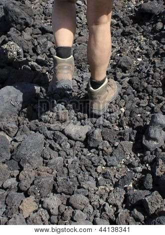 Walking On Vulcanic Surface