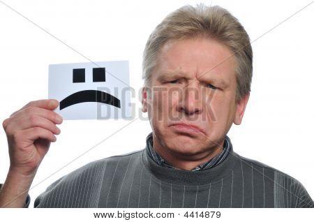 Sorrow Man With Card