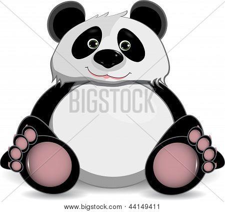 Cute Fat Panda