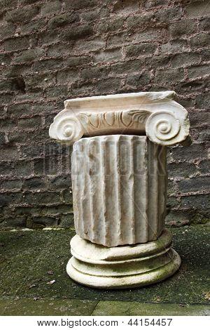 Mausoleo Di Cecelia Metella - Inside Detail Column - In Via Appia Antica At Rome - Italy