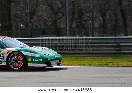 Ferrari Challenge Trofeo Pirelli Coppa Shell: Breake disk on fire