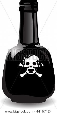 The Vector Black Bottle Of The Poison
