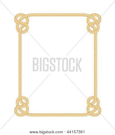 绳边框 库存矢量图和库存照片