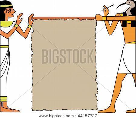 El conjunto de vectores de Dios egipcio