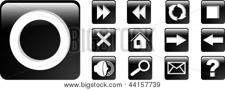The Vector Set Black Web Icon