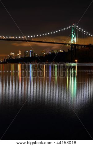 Lions Gate Night, Vancouver