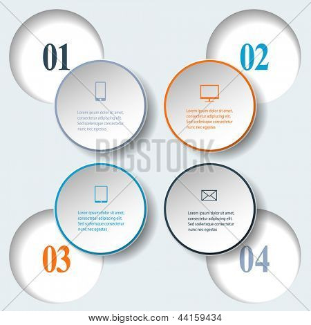 Abstract paper infografics. Internal and external data concept. Vector eps10 illustration