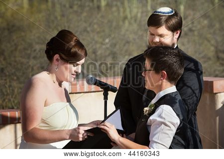 Lesbian Couple Marriage Ceremony