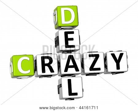 3D Crazy Deal Crossword