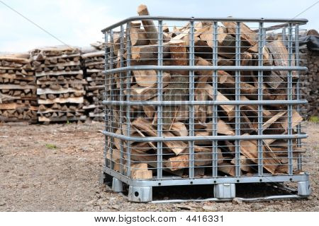 Cubic Meter Of Firewood In Box